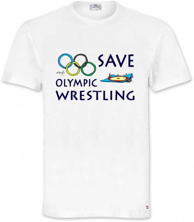 Save Olympic Wrestling T-shirt